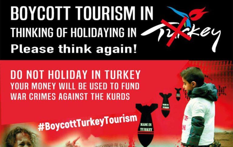 Türk devletinin soykırıma kaynak olarak kullandığı turizmi boykot ediyoruz!